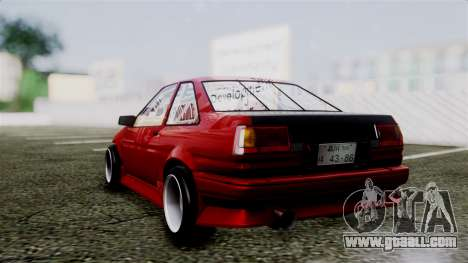 Toyota AE86C for GTA San Andreas left view