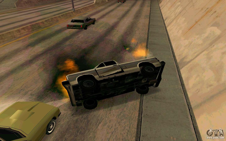 Burning car mod from GTA 4 for GTA San Andreas
