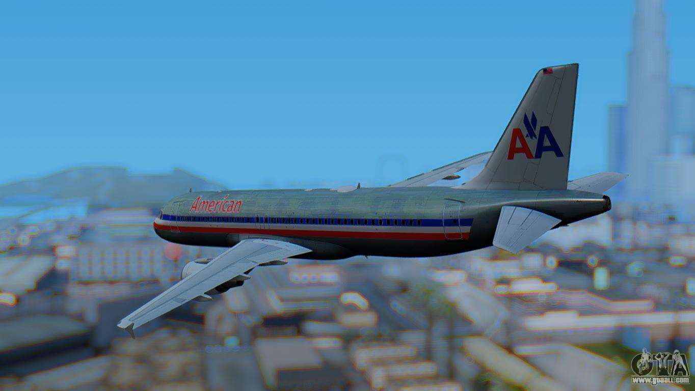 Airbus A320 200 American Airlines Old Livery For Gta San