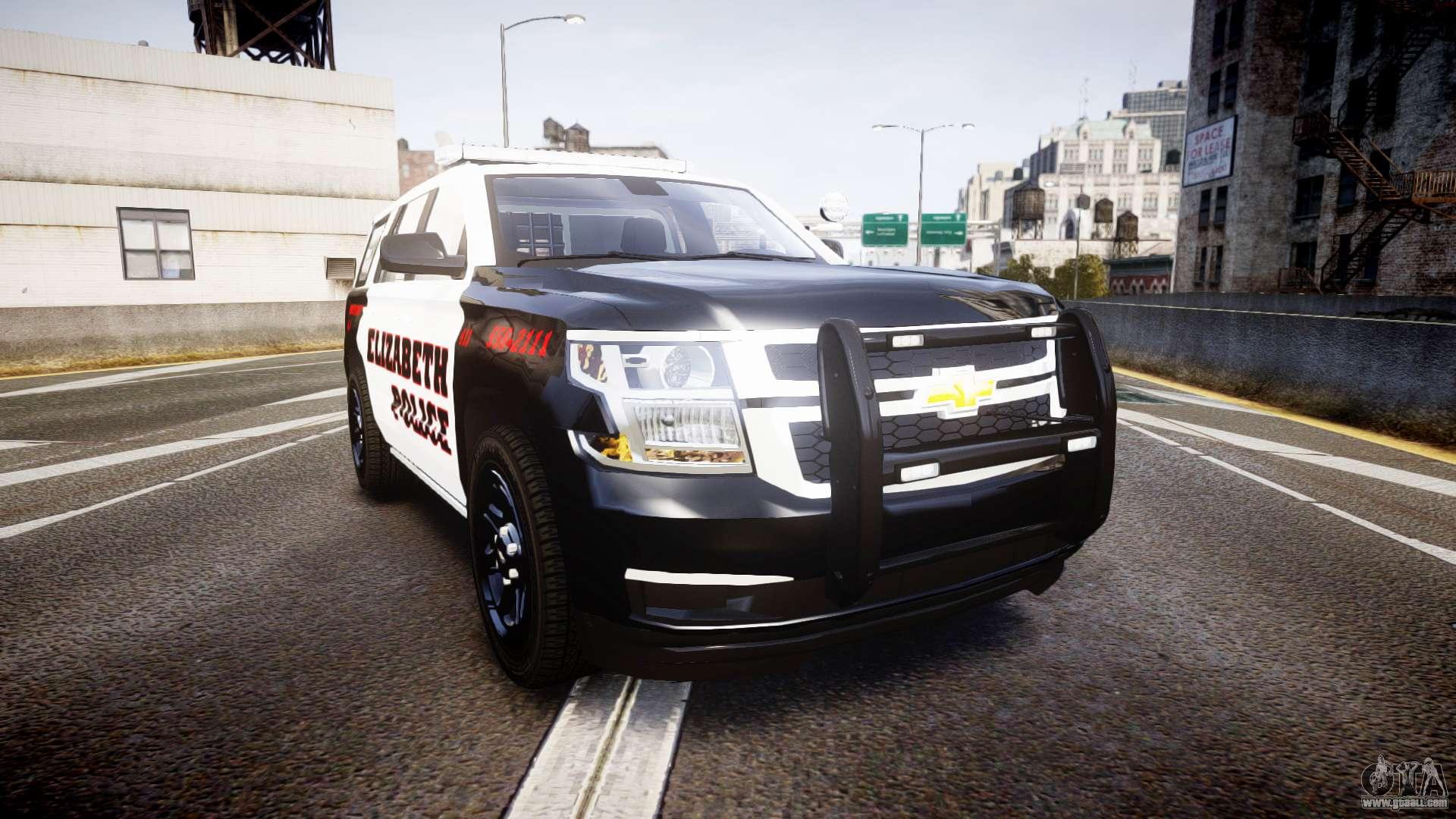 Chevrolet Tahoe 2015 Elizabeth Police Els For Gta 4