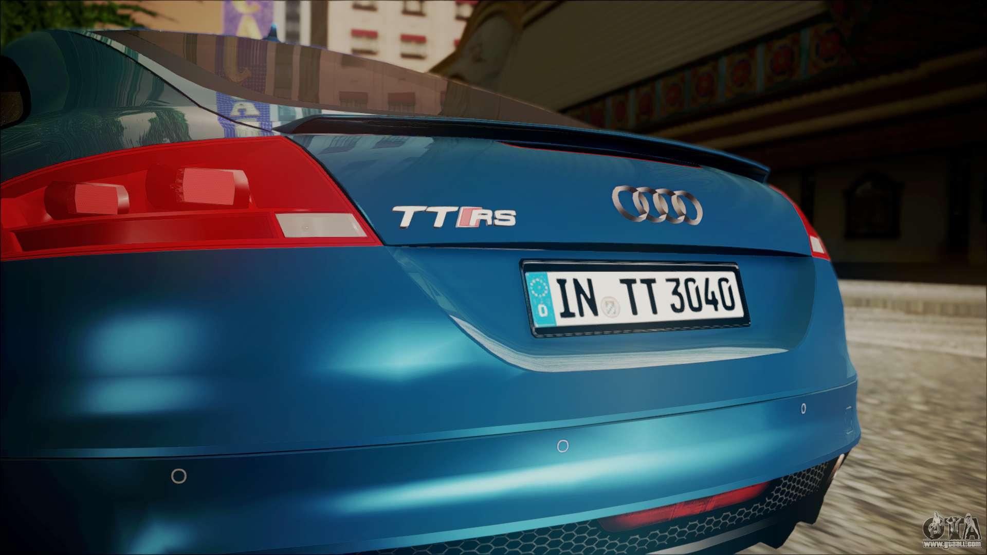 Audi Tt Rs Game: Audi TT RS 2011 V3 For GTA San Andreas