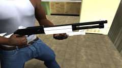 White with Black Shotgun for GTA San Andreas
