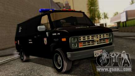 Chevrolet Chevy Van G20 Paraguay Police for GTA San Andreas