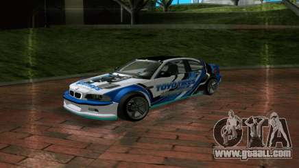 BMW M3 E46 ToyoTires GT-SHOP for GTA San Andreas