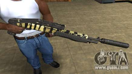 Gold Lines Combat Shotgun for GTA San Andreas