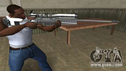 Full Silver Sniper Rifle for GTA San Andreas