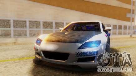 Mazda RX-8 Tuned Black Rock Shooter Itasha for GTA San Andreas