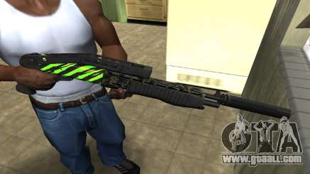 SPAS-12 Green Lines for GTA San Andreas