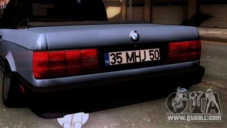 BMW M3 E30 Cabrio for GTA San Andreas back view