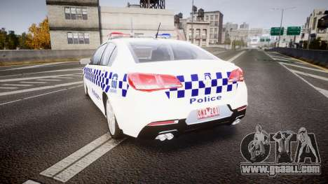 Holden VF Commodore SS NSW Police [ELS] for GTA 4 back left view
