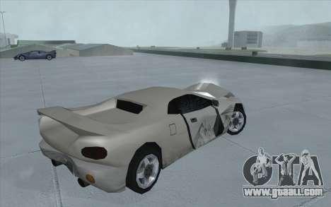 GTA 3 Infernus SA Style for GTA San Andreas right view