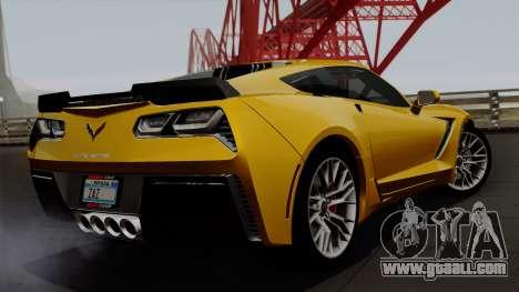 Chevrolet Corvette Z06 1.0.1 for GTA San Andreas left view