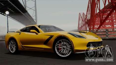 Chevrolet Corvette Z06 1.0.1 for GTA San Andreas back left view