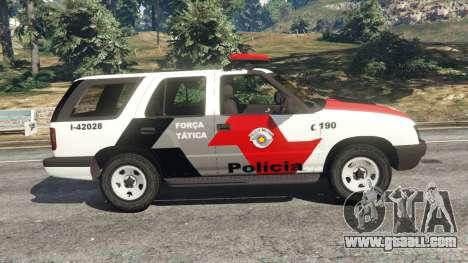 GTA 5 Chevrolet Blazer Sao Paulo State Police left side view