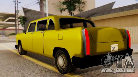 Cabbie New Edition for GTA San Andreas left view