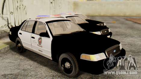 Ford Crown Victoria 2009 LAPD for GTA San Andreas right view
