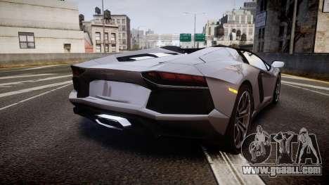Lamborghini Aventador Roadster for GTA 4 back left view