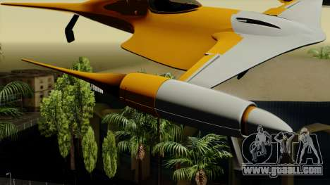 Star Wars N-1 Naboo Starfighter for GTA San Andreas back left view