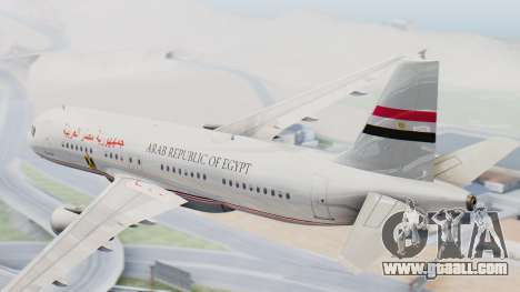 Airbus A320-200 Egyptian Air Force One for GTA San Andreas left view