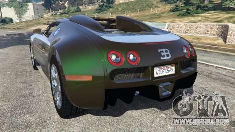 GTA 5 Bugatti Veyron Grand Sport v3.0 rear left side view