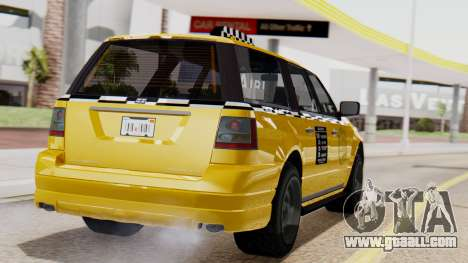 Landstalker Taxi SR 4 Style Flatshadow for GTA San Andreas left view