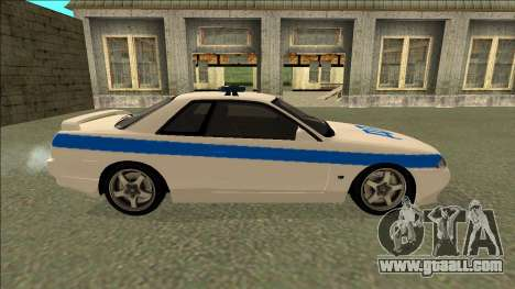 Nissan Skyline R32 Russian Police for GTA San Andreas inner view