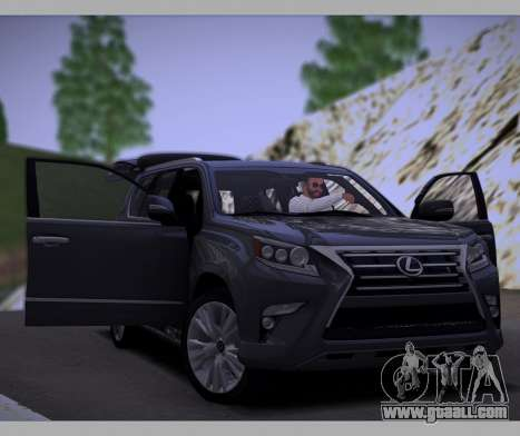 Lexus GX460 2014 for GTA San Andreas side view