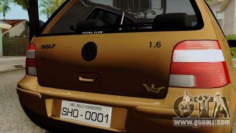 Volkswagen Golf 2004 Edit for GTA San Andreas back view