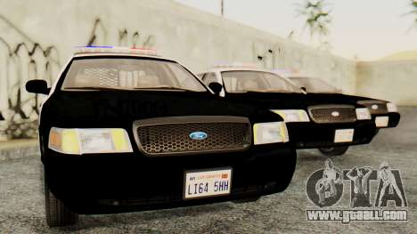 Ford Crown Victoria 2009 LAPD for GTA San Andreas back left view