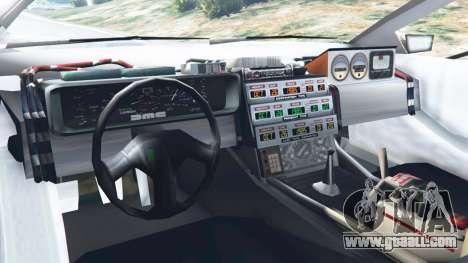 GTA 5 DeLorean DMC-12 Back To The Future v0.2 rear right side view