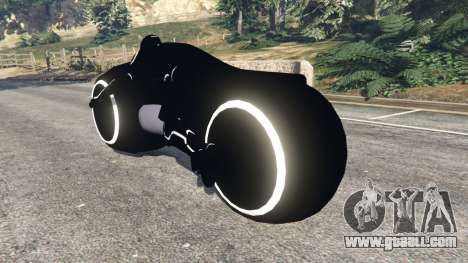 GTA 5 Tron Bike white rear left side view