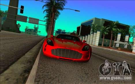 Aston Martin One-77 for GTA Vice City back left view