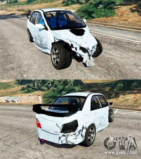 GTA 5 Subaru Impreza WRX STI 2005 steering wheel