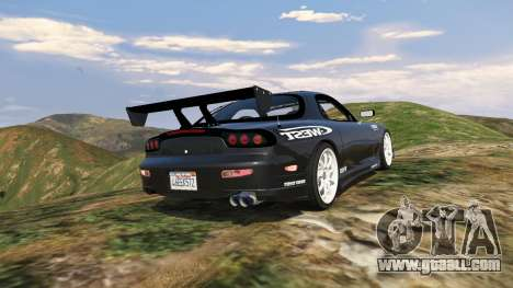 GTA 5 Mazda RX7 C-West 0.2 rear left side view