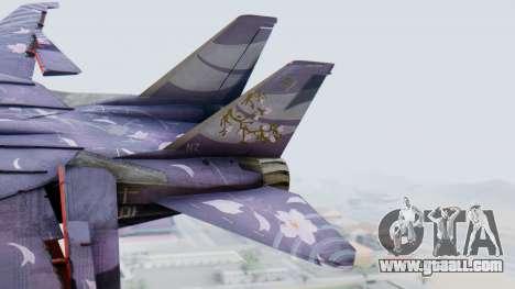 F-14D Zipang for GTA San Andreas back left view