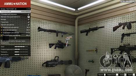 GTA 5 Asiimov Pistol.50 second screenshot