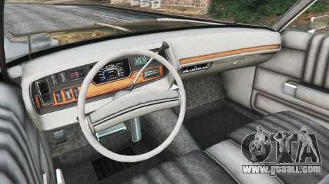 GTA 5 Dodge Polara 1971 Police rear right side view