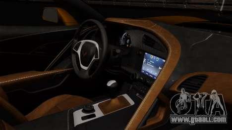 Chevrolet Corvette Z06 1.0.1 for GTA San Andreas back view