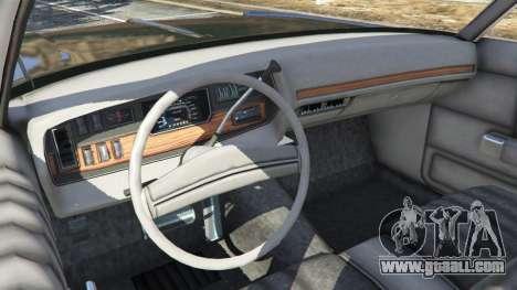 GTA 5 Dodge Polara 1971 Police v3.0 rear right side view