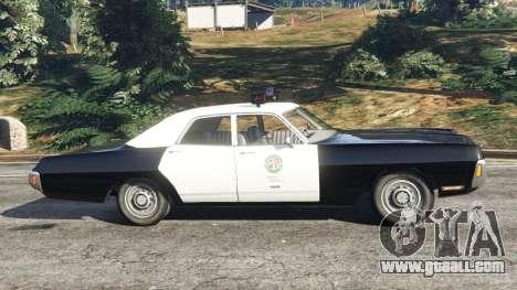 GTA 5 Dodge Polara 1971 Police left side view