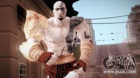 God Of War 3 Kratos Blue for GTA San Andreas