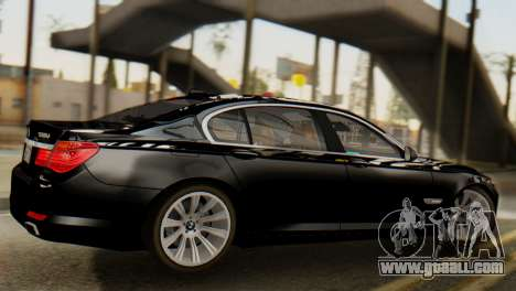 BMW 750Li 2012 for GTA San Andreas back left view