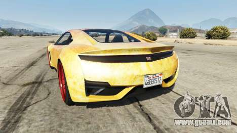 GTA 5 Dinka Jester (Racecar) Fire rear left side view