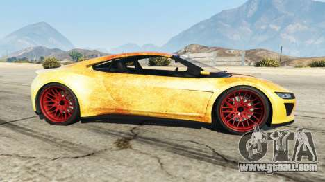 GTA 5 Dinka Jester (Racecar) Fire left side view