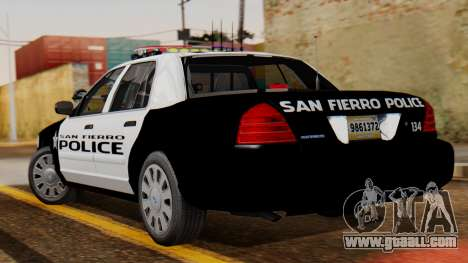 Police SF 2013 for GTA San Andreas left view
