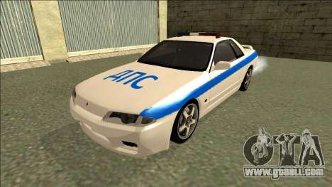 Nissan Skyline R32 Russian Police for GTA San Andreas back left view