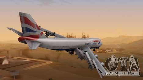 Boeing 747-200 British Airways for GTA San Andreas left view