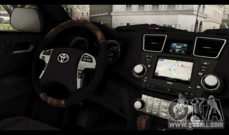 Toyota Highlander 2011 for GTA San Andreas interior