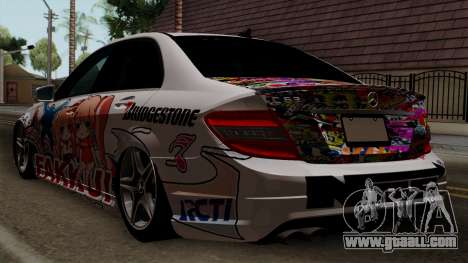 Mercedes-Benz C63 AMG Momoka and Nonoka Itasha for GTA San Andreas left view