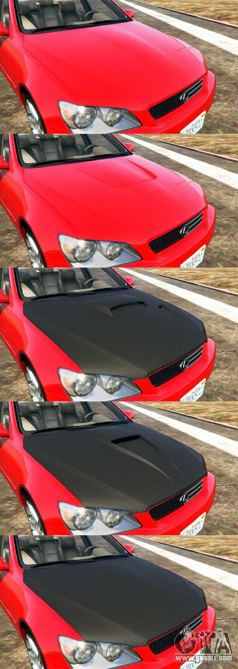 GTA 5 Lexus IS300 view from above